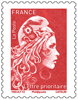 Timbres rouges